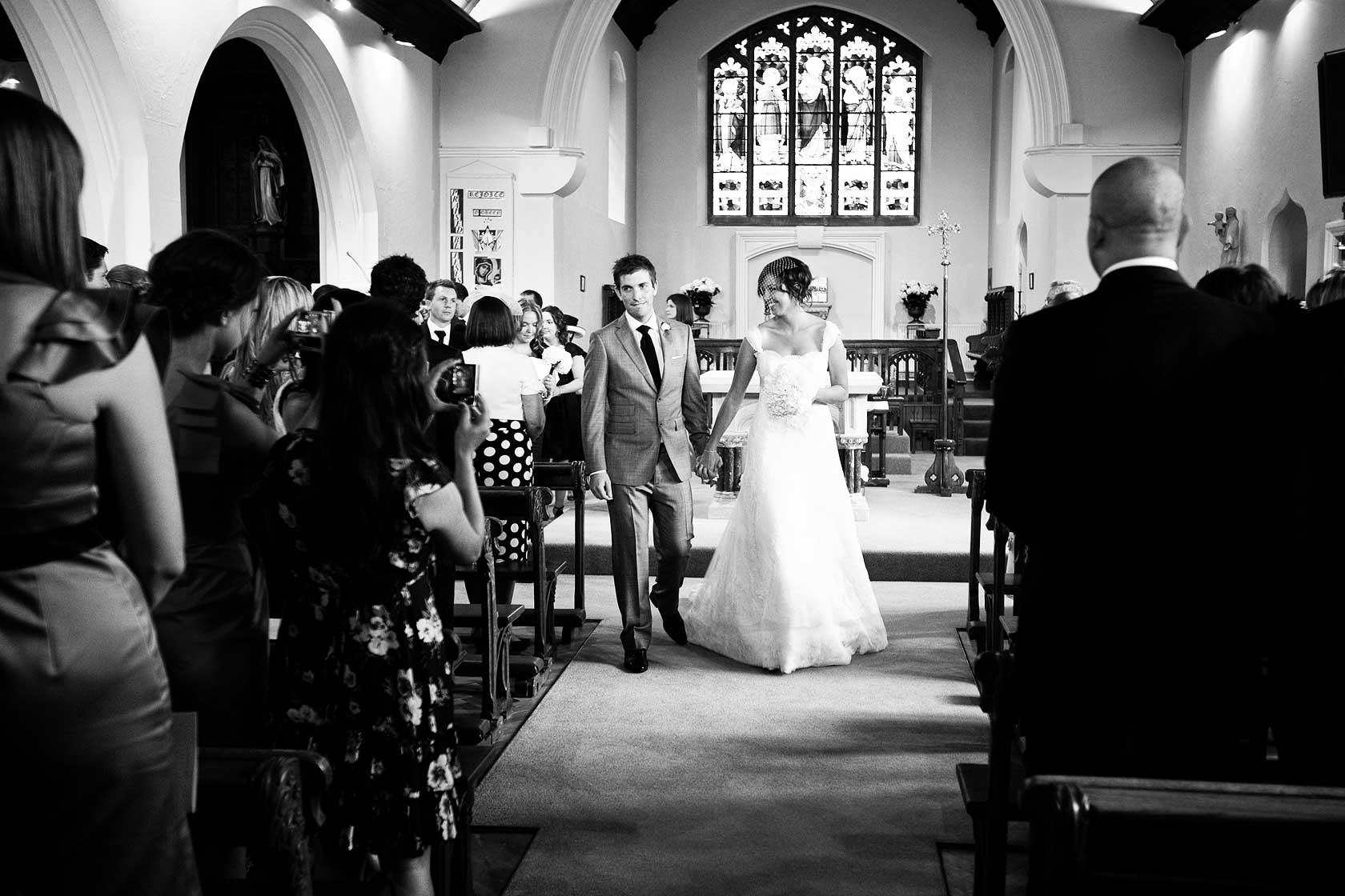 Wedding Photographer at Our Lady Help of Christians Rickmansworth
