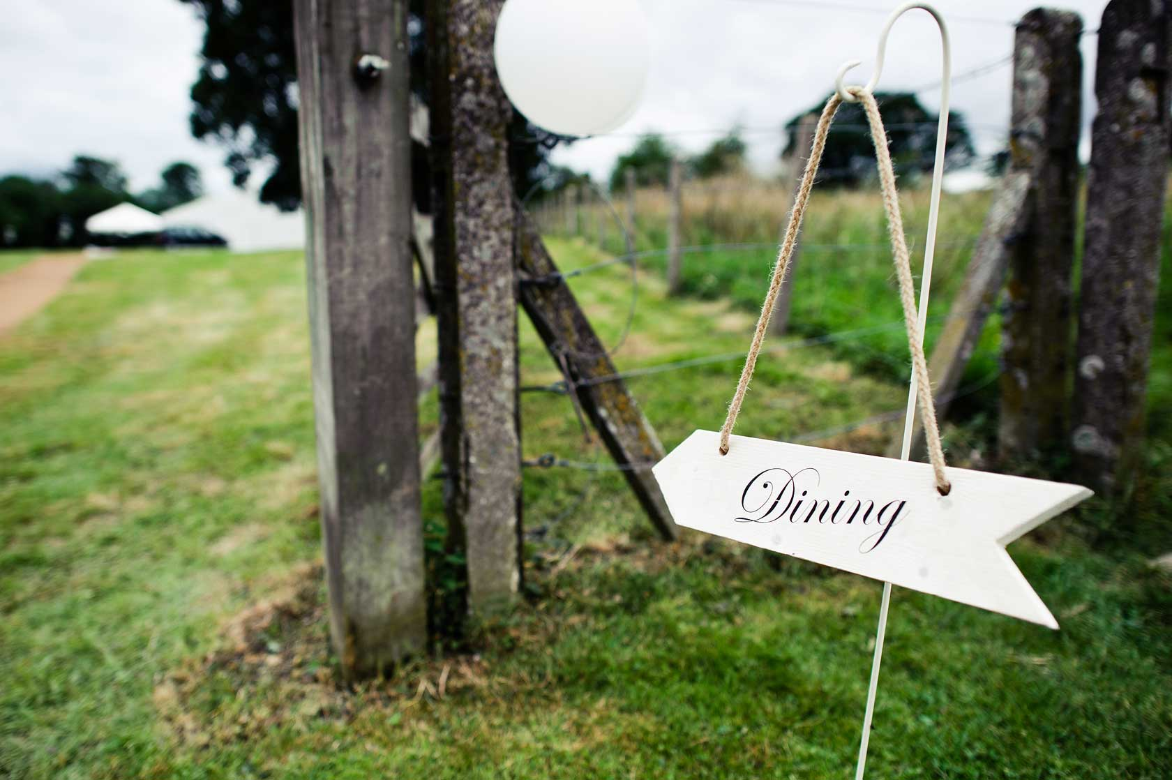 Wedding in a field photography