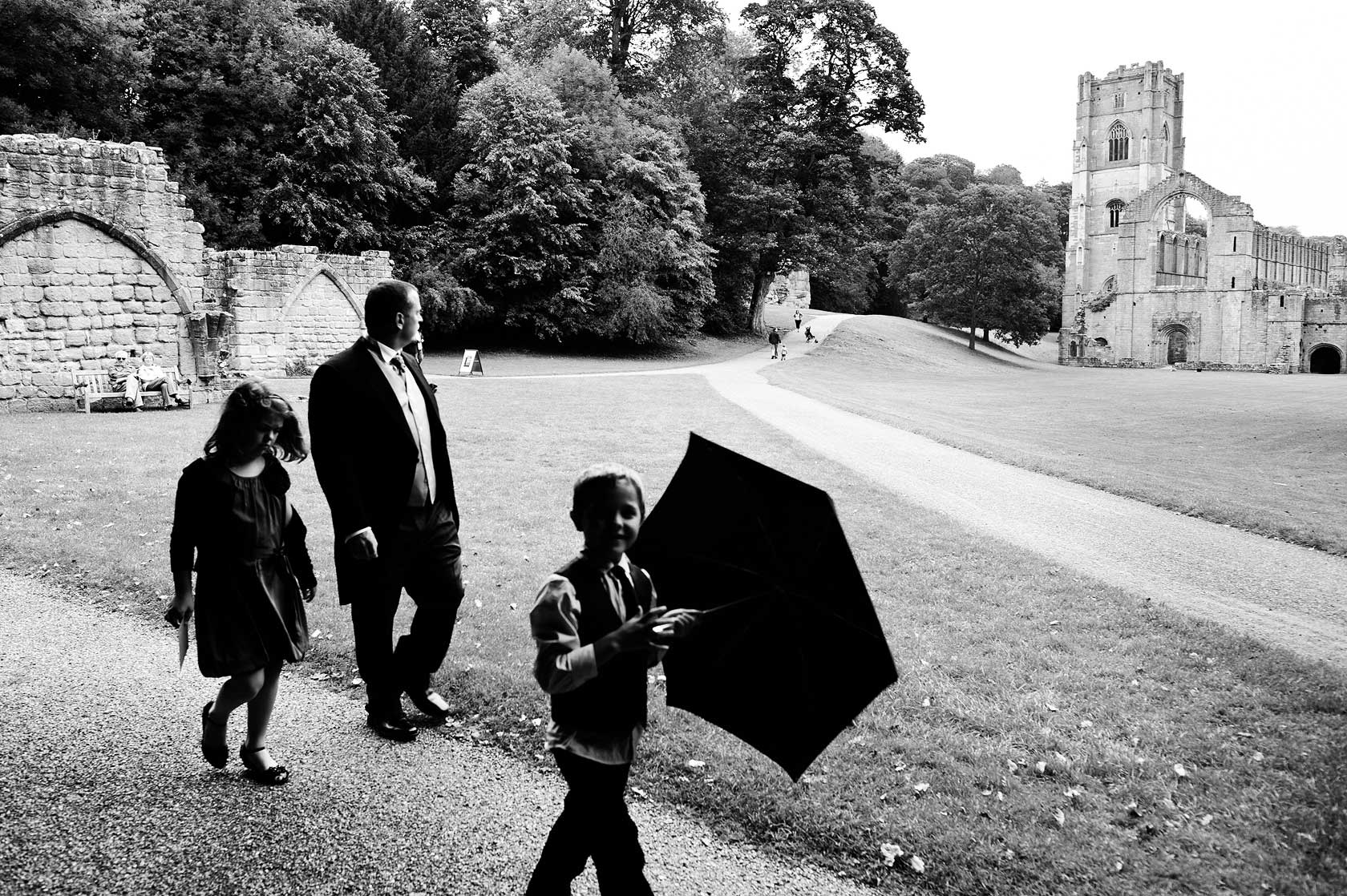 Wedding Photojournalism at Fountains Abbey