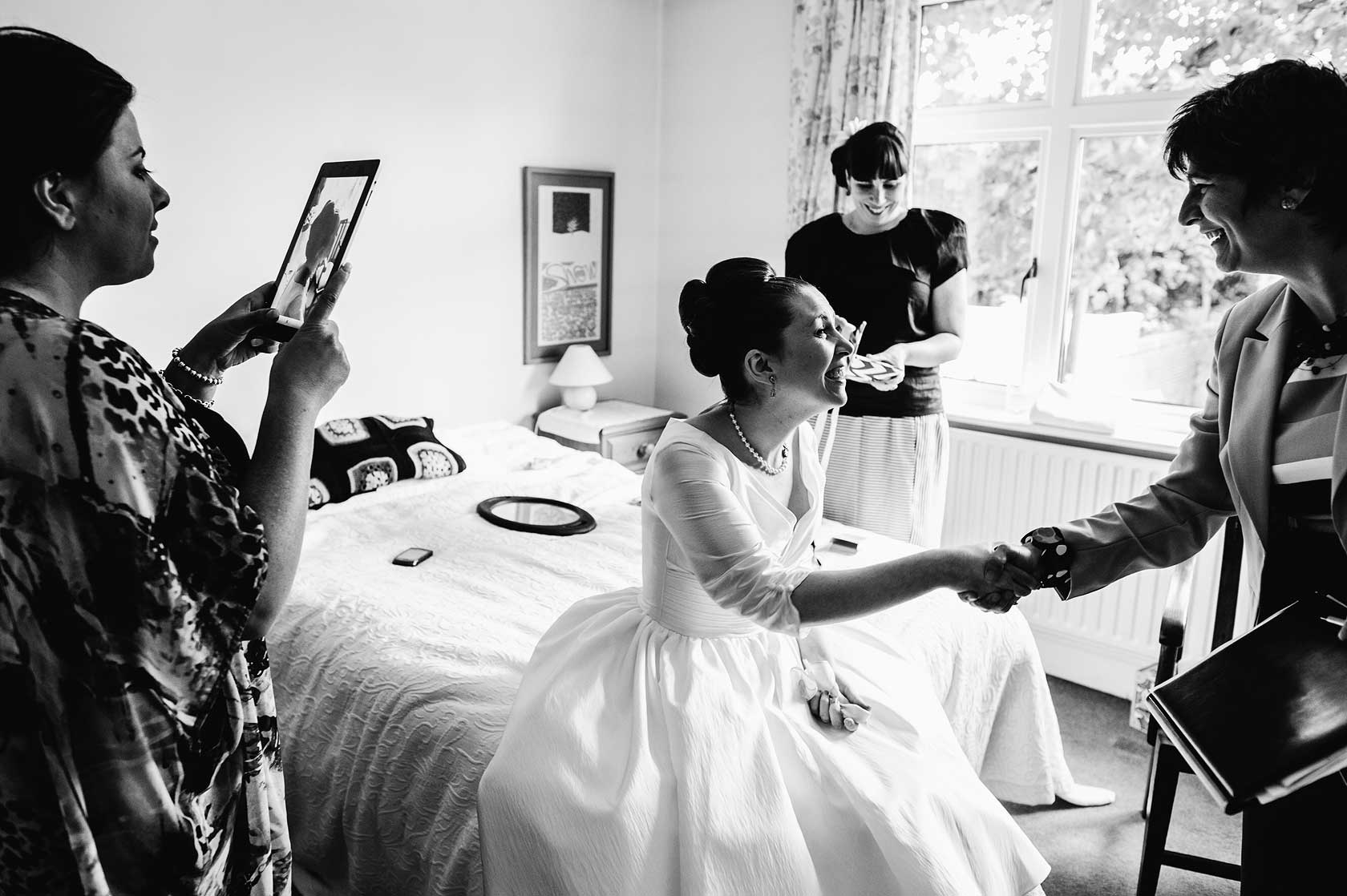 A bride meeting her celebrant