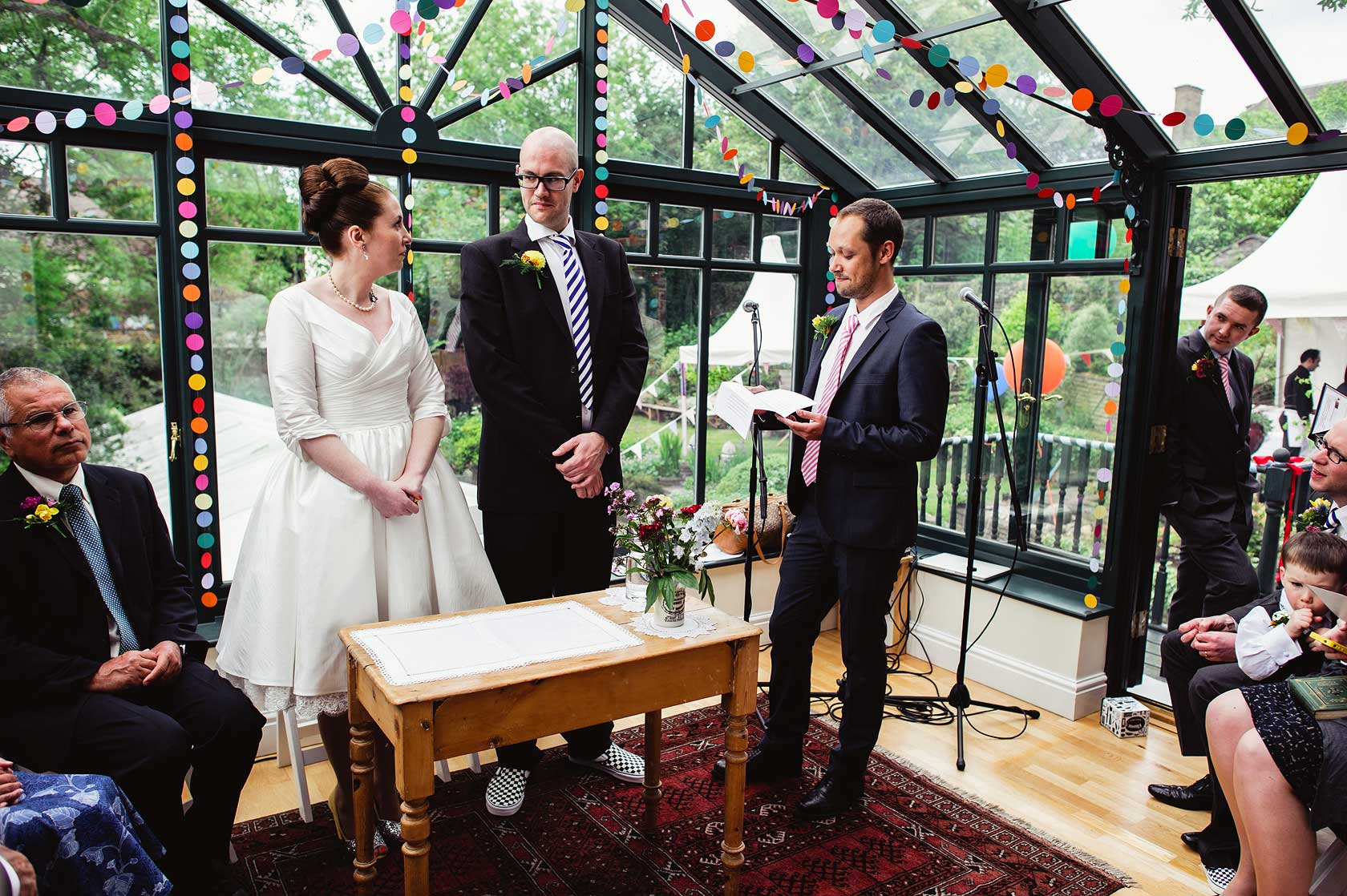 Civil ceremony reading by guest