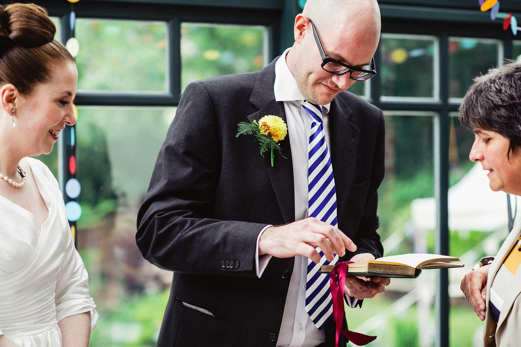 Back Garden Wedding Photography