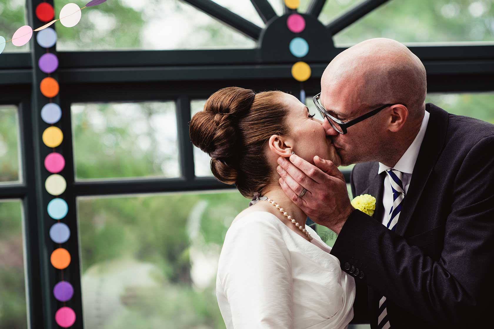 First kiss after marriage