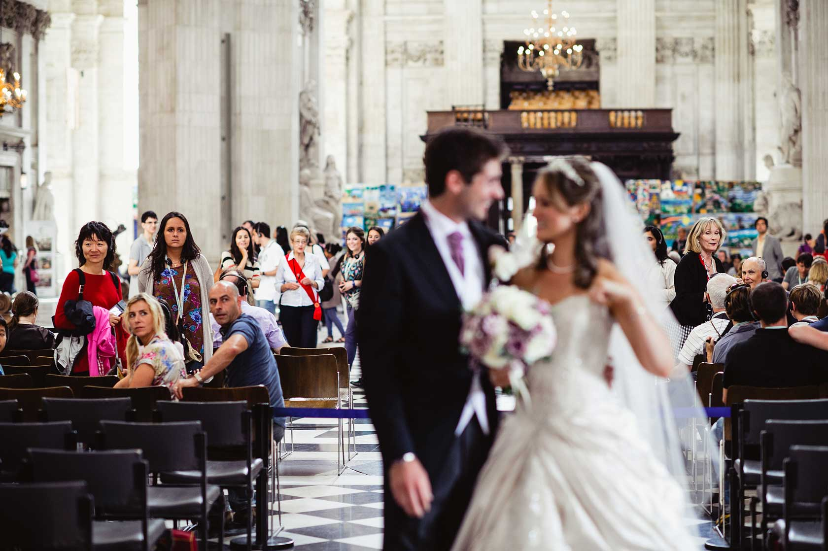 Reportage Wedding Photography at St Pauls Cathedral