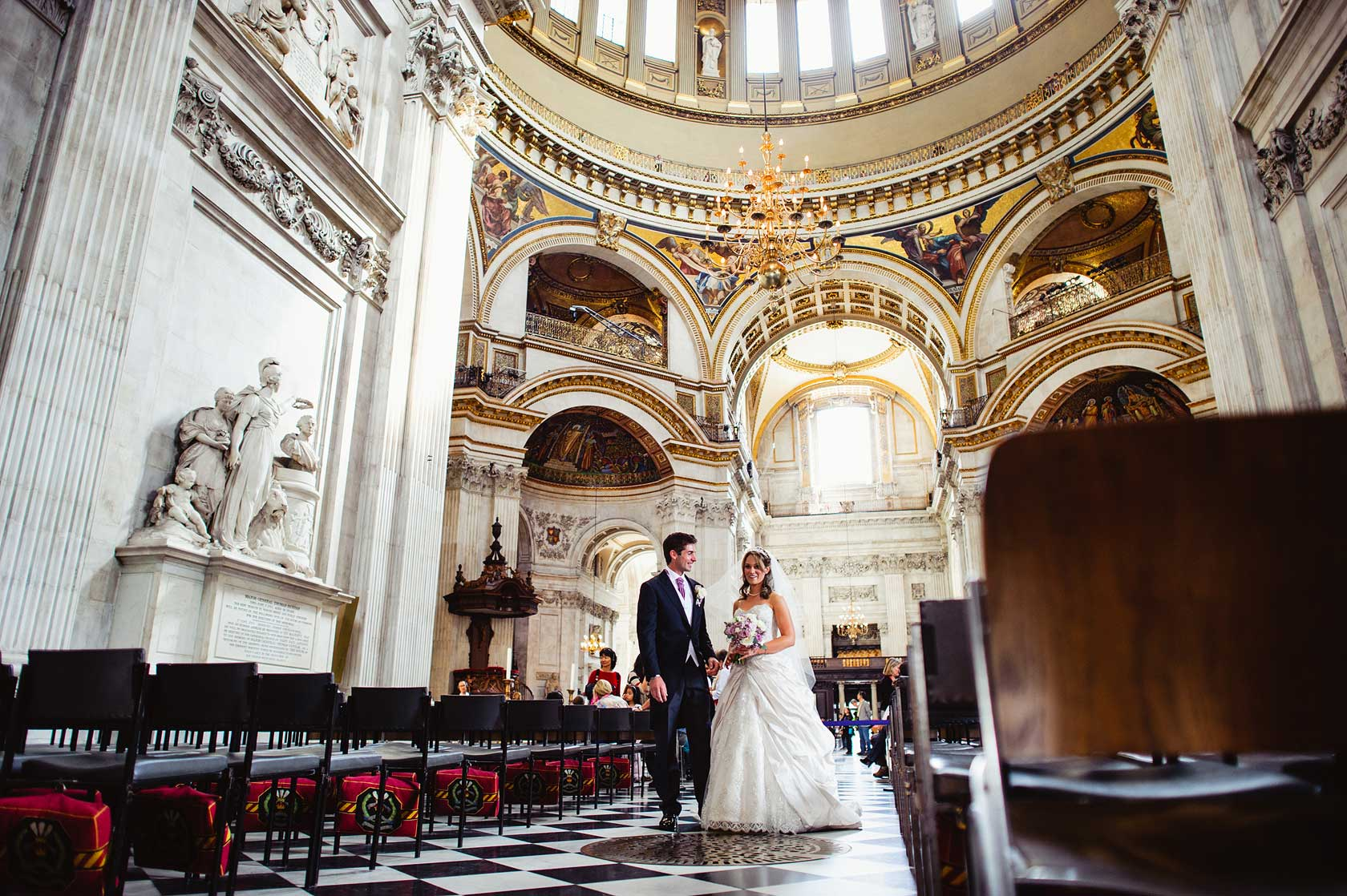 Wedding Photography at St Pauls Cathedral