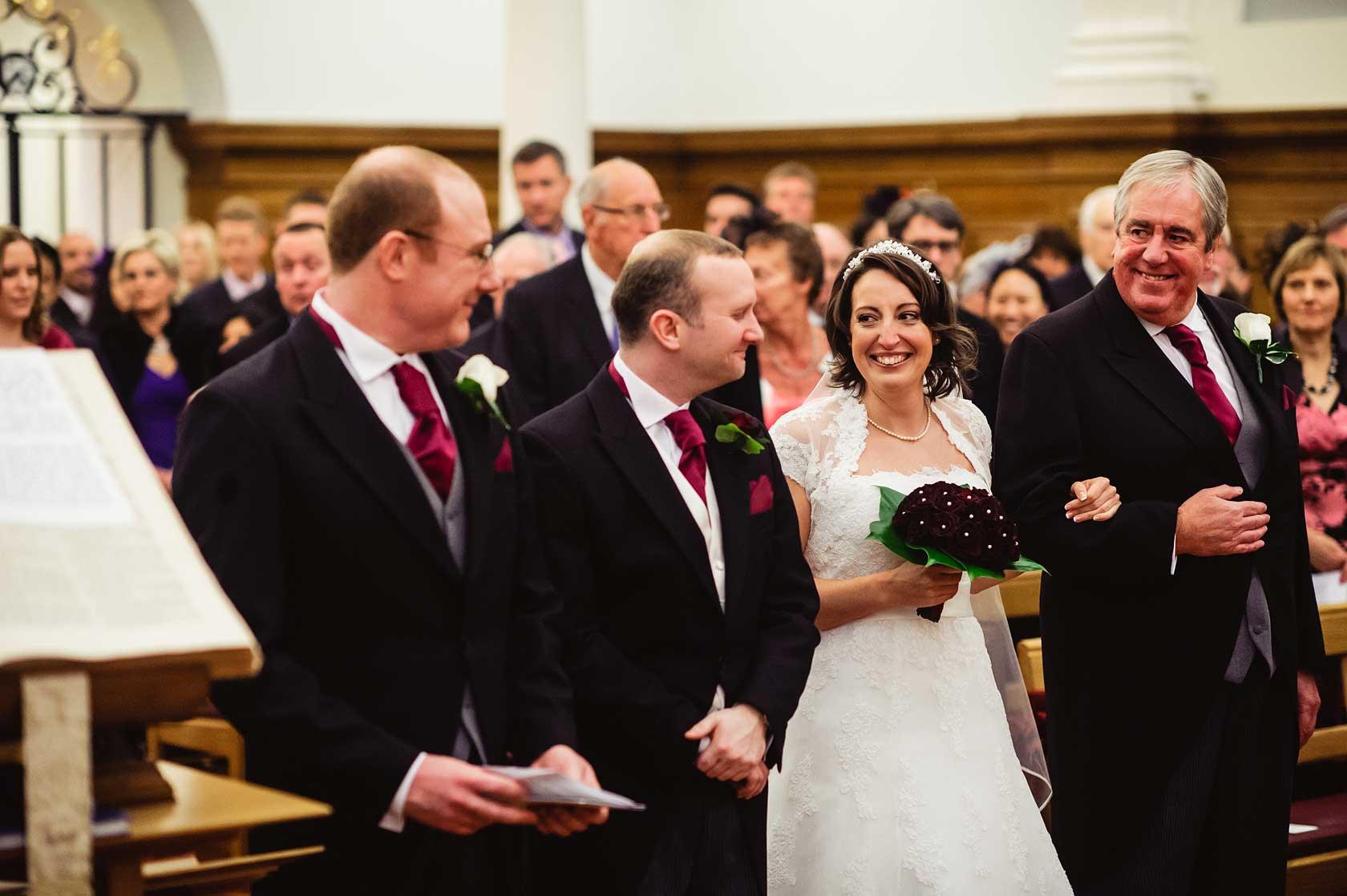 Wedding Photojournalism at Mercers Hall