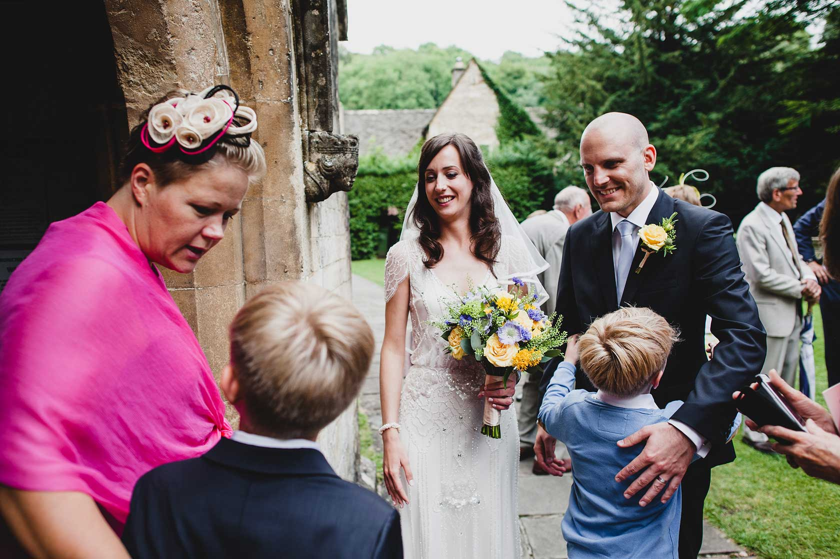 Wedding Photojournalism in Castle Combe
