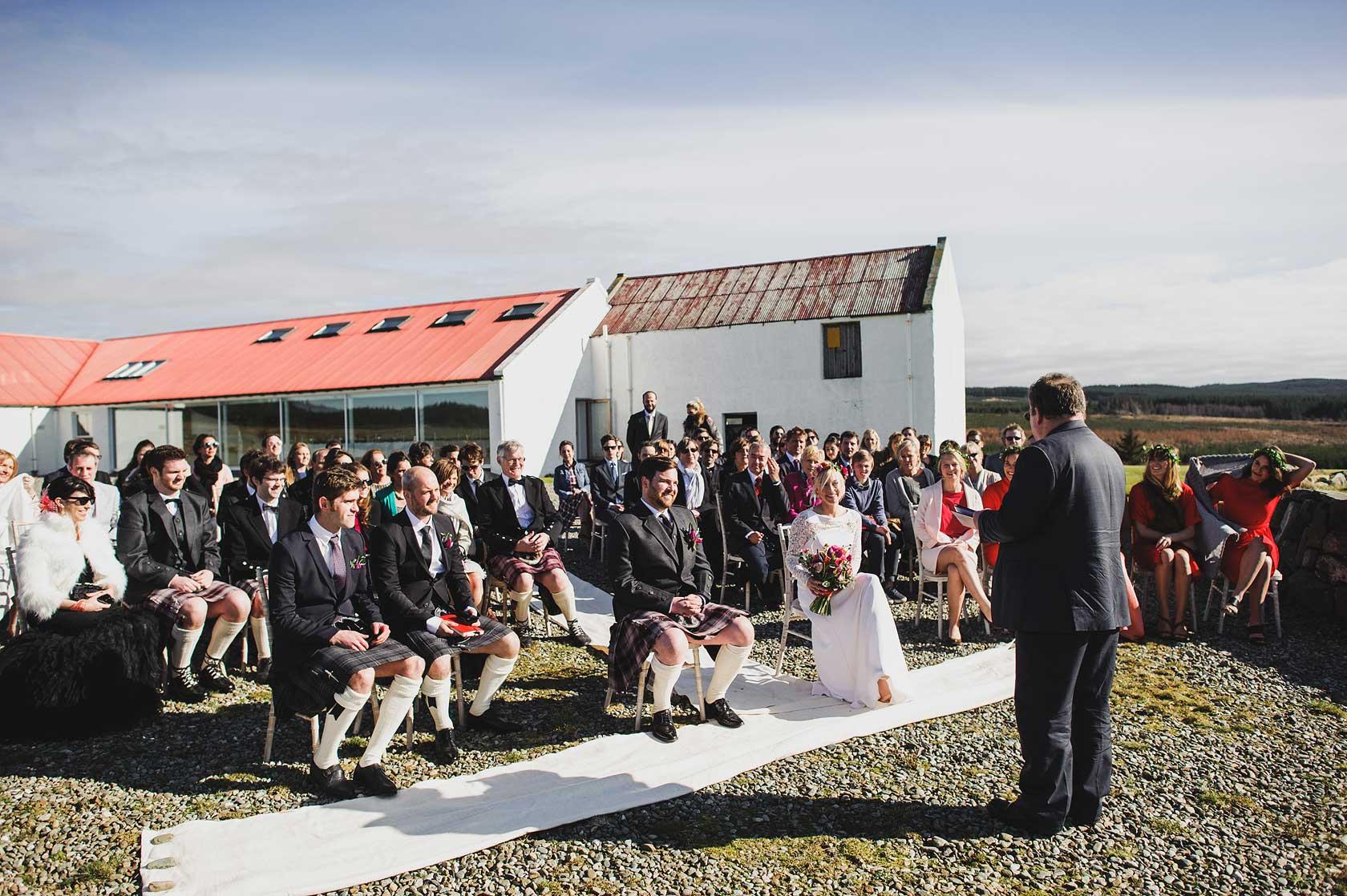 Crear Outdoor Wedding in Scotland