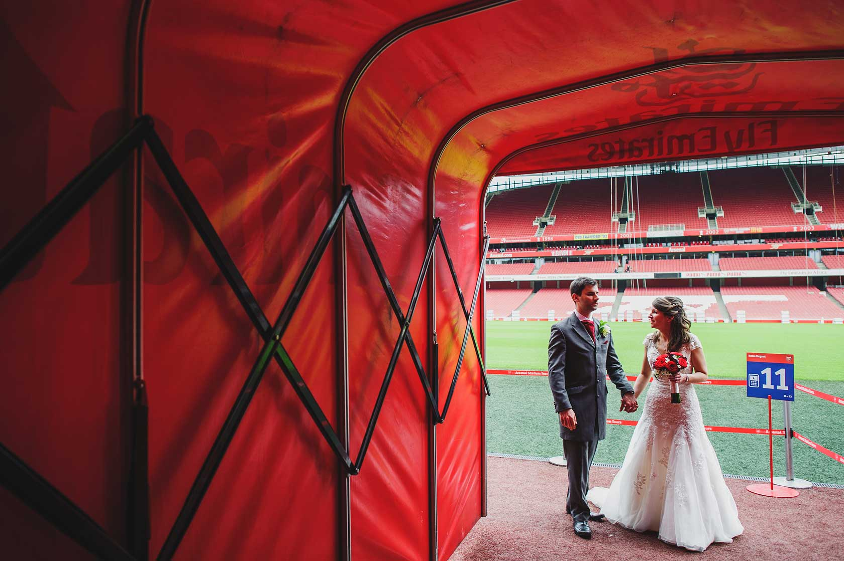 Arsenal Football Club Wedding in Islington