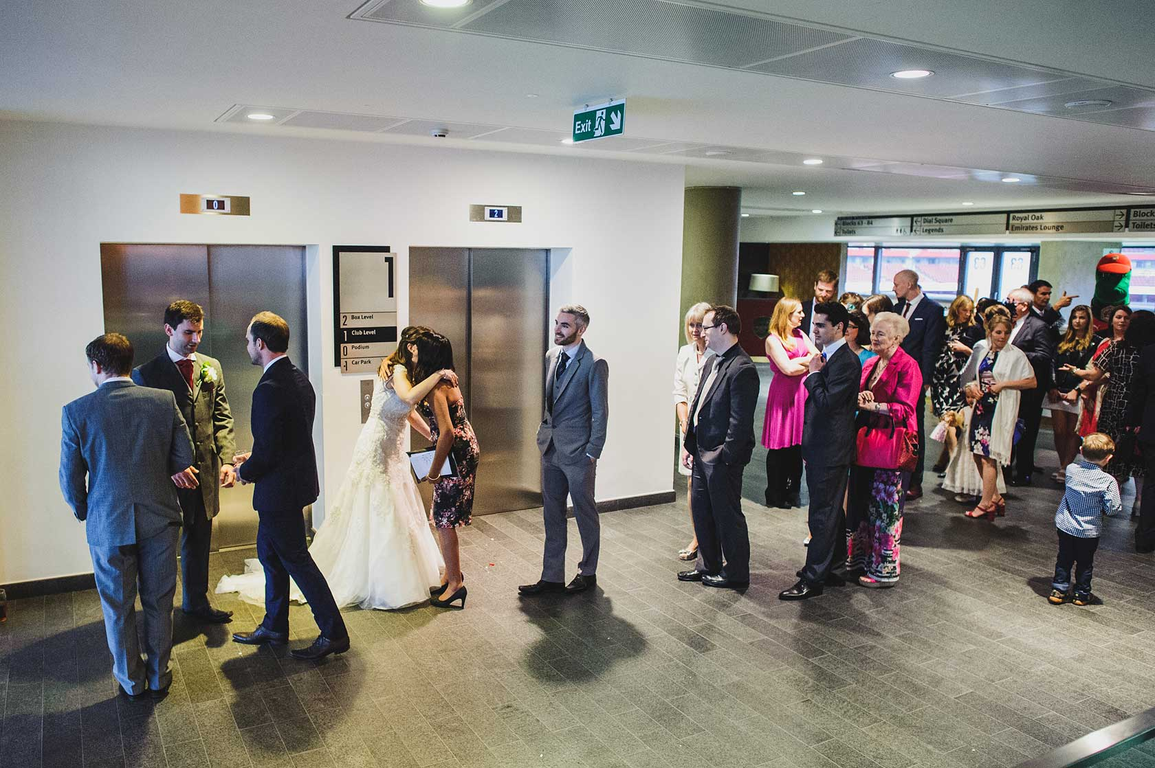 Wedding at Emirates Stadium
