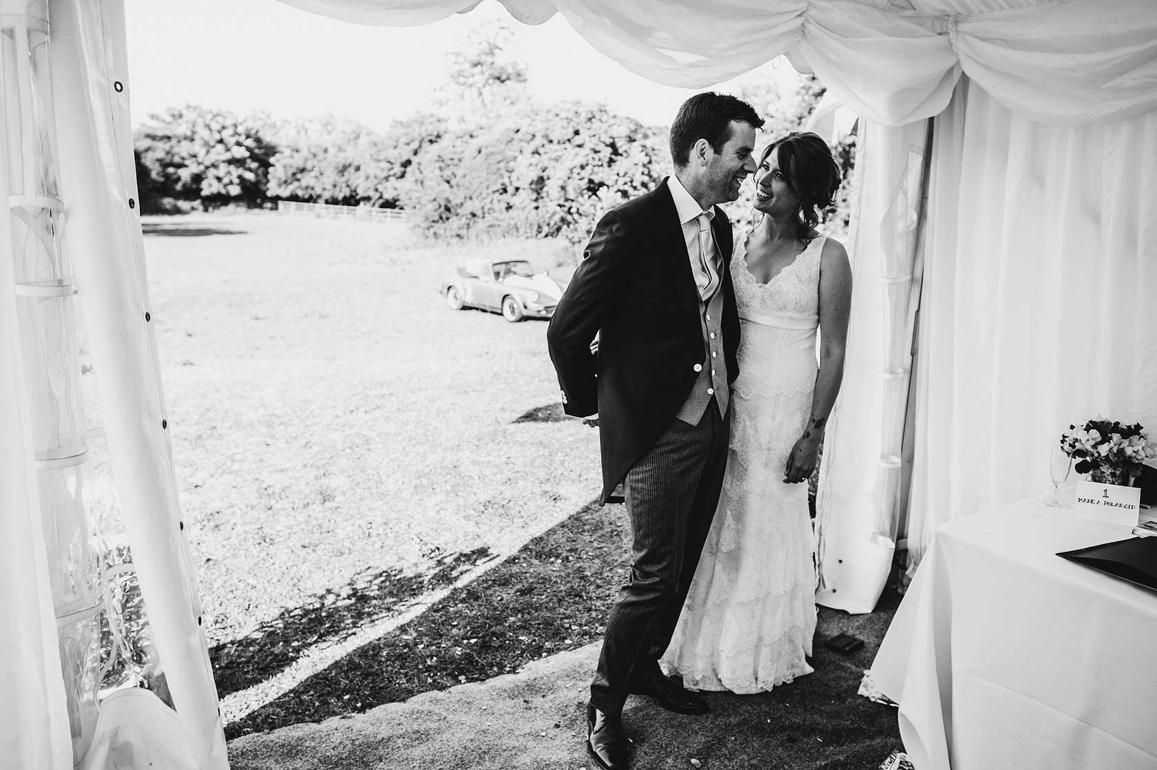 Reportage Wedding Photography in a marquee